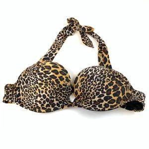 Victoria's Secret 34A Bombshell Bikini Top Leopard